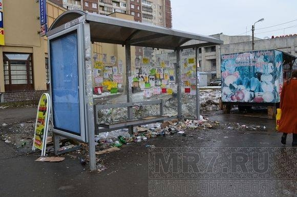 Возле станции метро «Проспект Просвещения» по-прежнему грязно: Фото