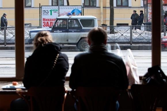 На митинге в защиту Петербурга полиция отдыхала: Фото