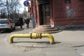 На улицах Петербурга появились страшные желтые трубы