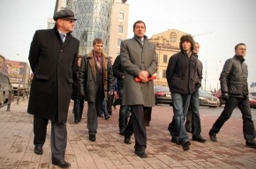 Осеевский все-таки приехал на Добролюбова (фото)