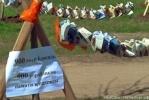 Фоторепортаж: «Бумажные кораблики на Светлановской площади – напоминание о Блокадной Мадонне»