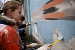 Фоторепортаж: «На Петроградской стороне художники рисовали Победу»