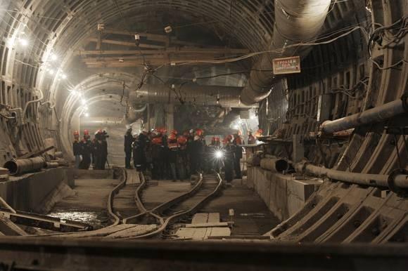 Как строят станцию «Международная»: Фото