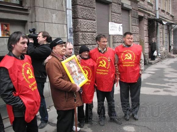 В Петербурге появился бюст Сталина: Фото