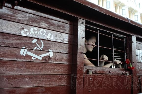 На Московском вокзале встречали Поезд Победы (фото): Фото