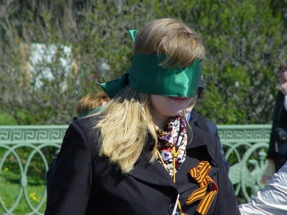 В Петербурге прошла акция в поддержку слепых: Фото