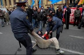 Задержание активистов ДСПА и анархистов около БКЗ «Октябрьский»: фоторепортаж