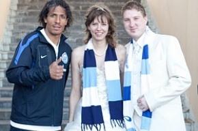 Футболисты «Зенита» поздравили питерских молодожёнов
