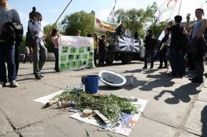 В Петербурге митинговали против призыва