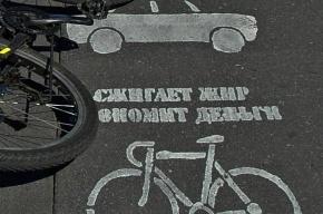Велосипедисты призывают автомобилистов сжигать жир и экономить деньги