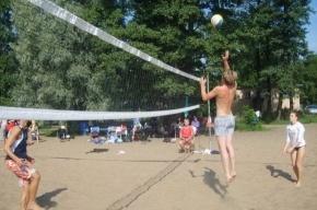 Волейболисты спасают пляж на Крестовском острове
