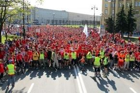 Тысячи роллеров проехали по центру Петербурга