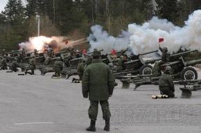 Курсанты-артиллеристы отрепетировали праздничный салют ко Дню Победы