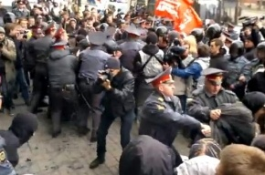 Задержание анархистов на Лиговском проспекте (видео)