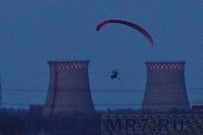 В небе над Петербургом летали парапланы