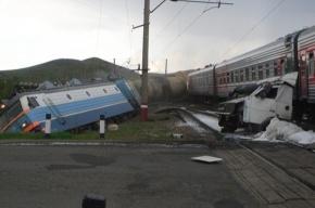 Столкнулись два поезда и бензовоз