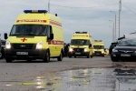 Фоторепортаж: «В Петербург доставили раненых при взрыве на свадьбе»