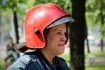 Фоторепортаж: «В поликлинике на улице Орджоникидзе тренировались пожарные»