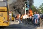 На углу Гражданского и Науки горел автомобиль: Фоторепортаж