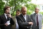 Фоторепортаж: «В Петербурге открылась скульптура ирландского поэта Томаса Мура»