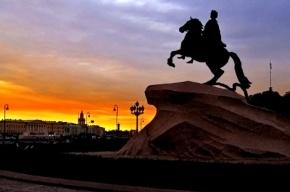 Санкт-Петербург поздравляет с днем рождения Петра Великого