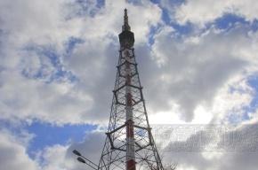 Демонтаж антенны на петербургской телебашне из-за плохой погоды перенесен на день