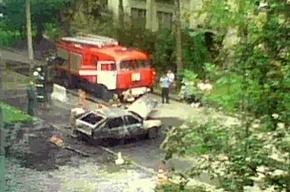 На улице Костюшко сгорел автомобиль