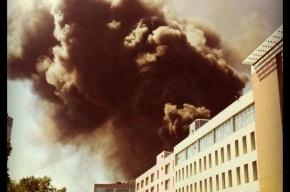 В Москве горит бизнес-центр