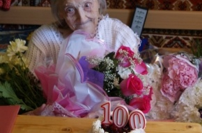 В Приморском районе поздравляли 100-летнюю юбиляршу