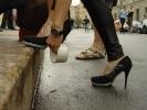 Фоторепортаж: «Забег на шпильках прошел под проливным дождем»