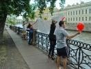 Петербуржец признался в любви своей девушке с помощью друзей: Фоторепортаж