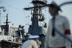 На Неве проходят репетиции военно-морского парада: Фоторепортаж
