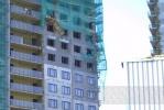 В Петербурге обрушились строительные леса: Фоторепортаж