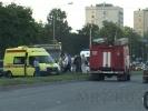 Машина врезалась в автобус, пострадали двое: Фоторепортаж