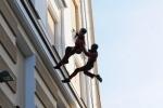 Норвежцы танцевали на стенах «Эрарты»: Фоторепортаж