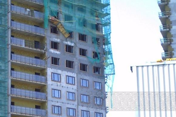 В Петербурге обрушились строительные леса: Фото