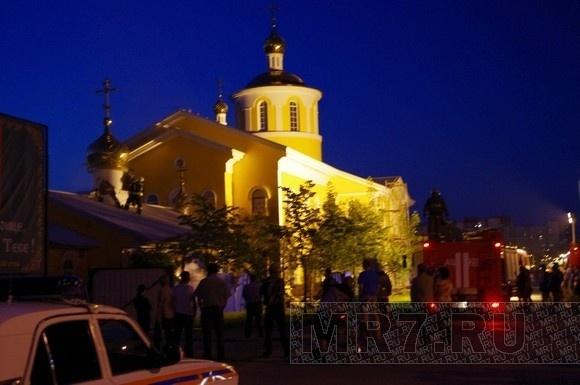На Косыгина ночью горела церковь: Фото