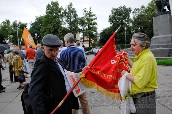 В Петербурге прошла акция «Выборы без оппозиции – это преступление»: Фото
