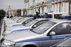 Сегодня утром на Дворцовой собирались полицейские