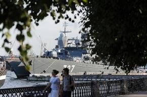 На Неве проходят репетиции военно-морского парада