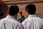 Китайские дети побывали в гостях у петербургского ОМОНа: Фоторепортаж