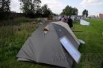 Фоторепортаж: «Защитники Митрофаниевского кладбища не собираются разбирать палатки»