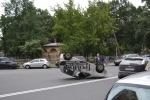 В результате ДТП на углу Херсонской и Бакунина перевернулся автомобиль Дэу: Фоторепортаж