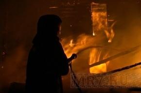 В Невском районе сгорел двухэтажный дом