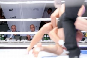 Путин побывал на боях без правил