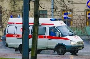 В Петербурге микроавтобус врезался в столб