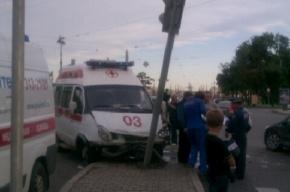 На Петроградской стороне произошло ДТП с участием скорой помощи