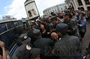 Об избиении в отделе полиции заявил участник митинга у Гостиного двора