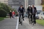 В Купчино открыли новую велодорожку: Фоторепортаж