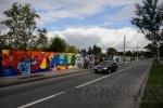 Фоторепортаж: ««Достоевский и космос»: на Школьной улице появилось 200-метровое граффити»